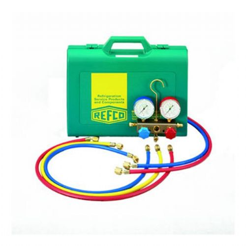 Refco (clim) 2 way Air Conditioning And Refrigeration Manifold Set R134a, R22, R404a And R407c